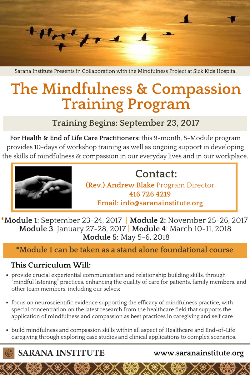 e40c9db717a The Mindfulness   Compassion Training Healthcare and End-of-Life For  Professionals is a 9-month